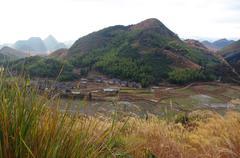 travel at karst landform of south chinese pro Guangdong - stock photo