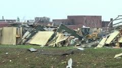 Tornado aftermath total devestation  Stock Footage