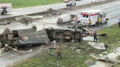 Tornado damage Stock Footage
