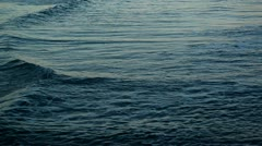 Small silvered waves on the sea Stock Footage