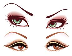 set of eyes - stock illustration
