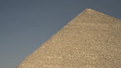 History & culture, Egypt pyramids wide shot, close detail Stock Footage