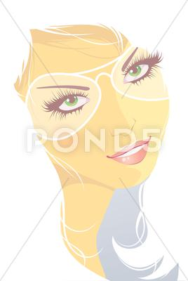 Stock Illustration of winter girl