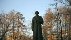 Felix Dzerzhinsky Statue - stock footage