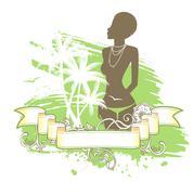 summer woman - stock illustration