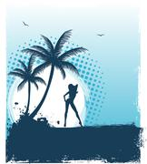 tropic back - stock illustration