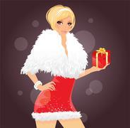 party girl - stock illustration
