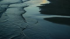 Water on the border of sand 01 Stock Footage