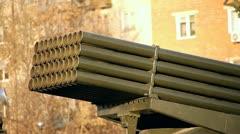 Grad Rocket System Stock Footage