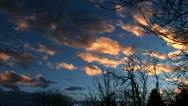 Stock Video Footage of Clouds time lapse - reddish