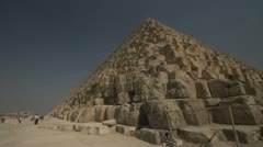 History & culture, Egypt pyramids base wide shot, detail, large steps Stock Footage