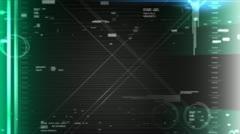 Futuristic cyborg vision, background, hi-tech, eye. - stock footage
