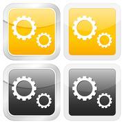 Square icon gear Stock Illustration