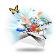 Email internet communication Stock Illustration