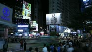 Stock Video Footage of Causeway Bay, Hong Kong Crowds Rush Hour Shopping, Night Traffic, time lapse