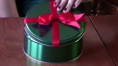 Getting Christmas Gift Cookie Stock Footage