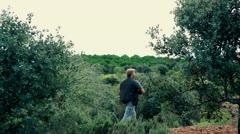 Hunter hunting 2 Stock Footage