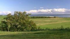 Beautiful Landscape on Fischland-Darss-Zingst Peninsula - Baltic Sea, Germany Stock Footage