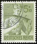 German vintage stamp, macro Stock Photos