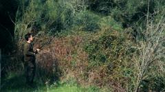 Hunter with shotgun 7 Stock Footage