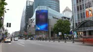 Crowded Nanjing Road in Shanghai, China, Pedestrian Shopping Street, time lapse Stock Footage