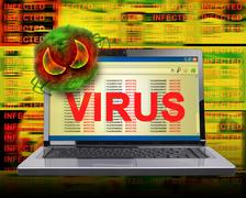 computer internet virus infection - stock photo