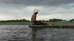 Fishing boat on the Mekong Delta. Ho Chi Minh. Vietnam. Stock Footage