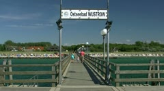 Seaside Resort Town Wustrow on Fischland - Baltic Sea, Northern Germany Stock Footage