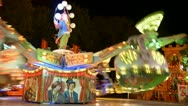 Stock Video Footage of Rotating Carousel At An Luna Park