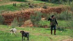 Hunter walking Stock Footage