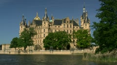 Schwerin Castle in Mecklenburg - Northern Germany Stock Footage