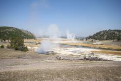 Yellowstone grand tetons Stock Photos