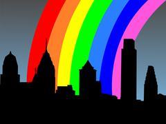 Philadelphia sateenkaari Piirros