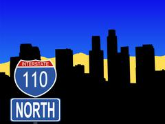 Los Angeles Interstate merkki Piirros