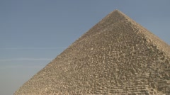 History & culture, Egypt pyramid, tilt reveal to base Stock Footage