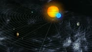 Stock Video Footage of Solar System Map