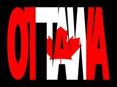 Ottawa Kanadan lippu Piirros