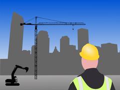 New Orleans rakennustyömaalla Piirros
