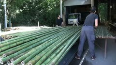 Bamboo factory in Japan Stock Footage