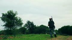 Hunters hunting Stock Footage