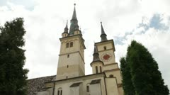 Church towers on the sky Stock Footage