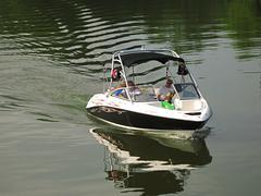Motorized Boat - stock photo