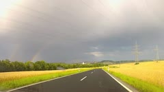 Driving on a beautiful country road Stock Footage