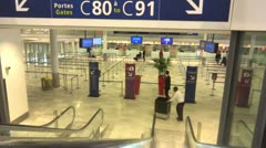 Passport check in airport Stock Footage