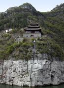 Stock Photo of fortified building at yangtze river