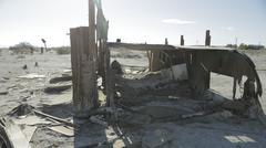 Old RV - Salton Sea Stock Photos