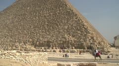 History & culture, Egypt pyramid base medium shot Stock Footage