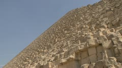 History & culture, Egypt pyramid, tilt reveal to base, close Stock Footage