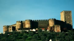 Medieval castle pan 2 Stock Footage