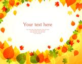 Autumn leafs back Stock Illustration